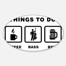 Double-Bass-Player-ABH1 Sticker (Oval)
