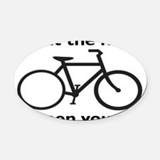 bikerectangle Oval Car Magnet