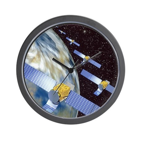 Communication satellites Wall Clock