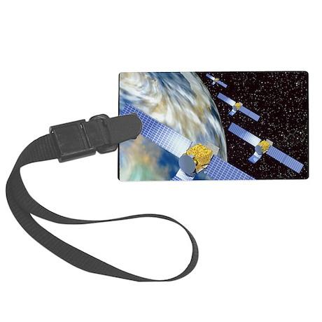 Communication satellites Large Luggage Tag