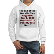 End of the World is Nigh button Hoodie