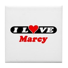 I Love Marcy Tile Coaster