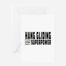 Hand Gliding Is My Superpower Greeting Card