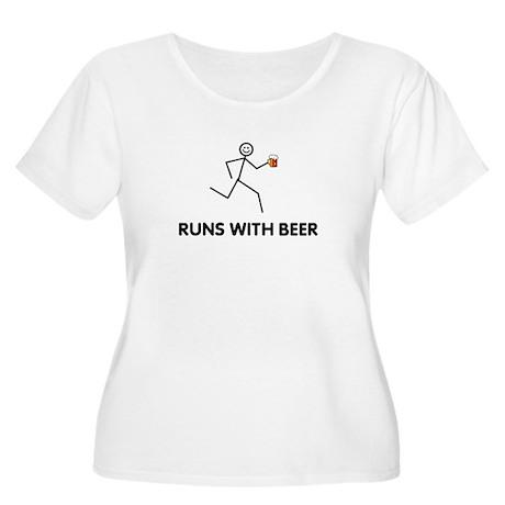 BEER Women's Plus Size Scoop Neck T-Shirt