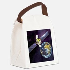 Communications satellite Canvas Lunch Bag