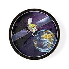 Communications satellite Wall Clock