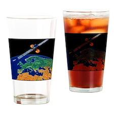 Communications satellite Drinking Glass