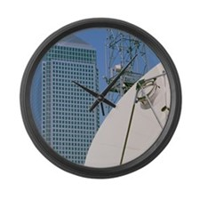 Communications dish, with Canary  Large Wall Clock