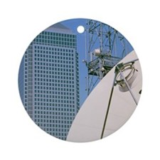 Communications dish, with Canary Wh Round Ornament