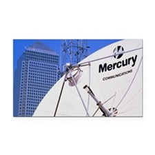 Communications dish, with Can Rectangle Car Magnet