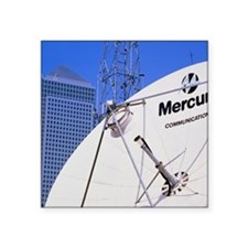 """Communications dish, with C Square Sticker 3"""" x 3"""""""
