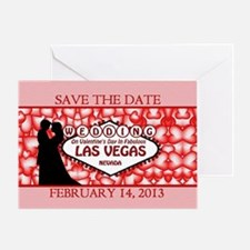 Save the Date Valentines Day Las Veg Greeting Card