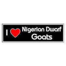 Love Nigerian Dwarf Goats Bumper Bumper Sticker