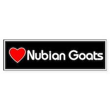 Love Nubian Goats Bumper Bumper Sticker