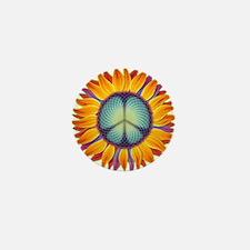 Peace Flower Mini Button