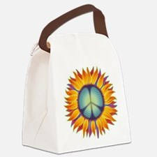 Peace Flower Canvas Lunch Bag