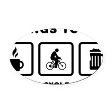 Cycling-ABH1 Oval Car Magnet