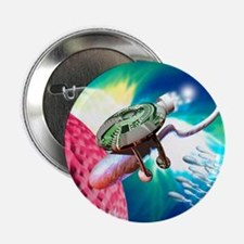 "Computer artwork of a nanorobot prope 2.25"" Button"