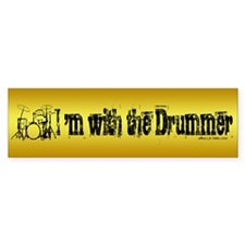 I'M WITH THE DRUMMER #3 Bumper Car Sticker