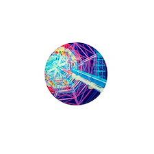 Computer artwork of ATLAS detector at Mini Button