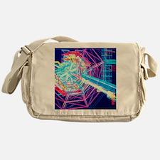 Computer artwork of ATLAS detector a Messenger Bag
