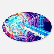 Computer artwork of ATLAS detector  Sticker (Oval)
