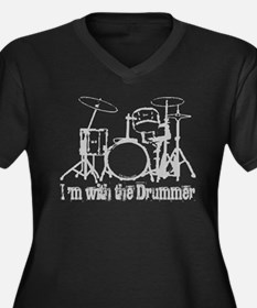 I'M WITH THE DRUMMER #3 Women's Plus Size V-Neck D
