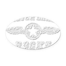 SILVER LAKE ROCKS Oval Car Magnet