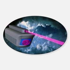 Computer artwork of e-mail train on Sticker (Oval)