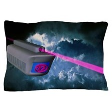 Computer artwork of e-mail train on su Pillow Case