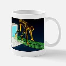 Computer artwork of the internet as a s Mug