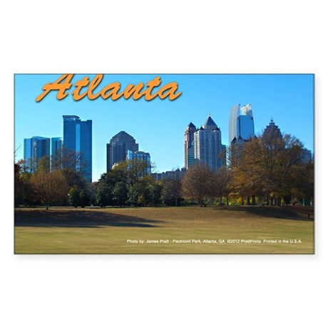 Atlanta Skyline Sticker (Rectangle)
