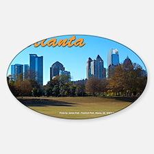 Atlanta Skyline Sticker (Oval)
