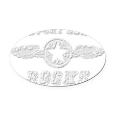 NEWPORT BEACH ROCKS Oval Car Magnet