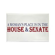 Woman's Place Rectangle Magnet