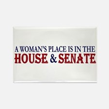 Woman's Place Rectangle Magnet