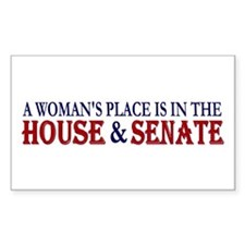 Woman's Place Rectangle Bumper Stickers