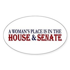 Woman's Place Oval Bumper Stickers