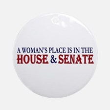 Woman's Place Ornament (Round)