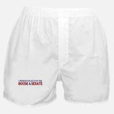 Woman's Place Boxer Shorts