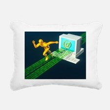 Computer artwork of e-ma Rectangular Canvas Pillow