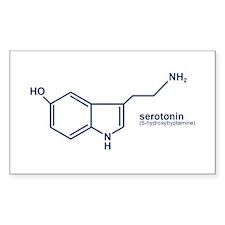Serotonin Rectangle Decal