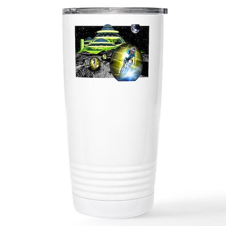 Computer artwork of men Stainless Steel Travel Mug