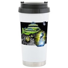 Computer artwork of men Travel Mug