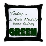 The Food Colored Throw Pillow