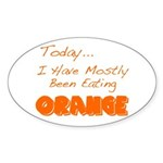The Food Colored Oval Sticker