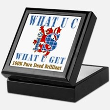 100% pure dead brilliant Scottish Keepsake Box