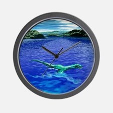 Computer illustration of the Loch Ness  Wall Clock