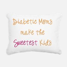 Diabetic Moms make the S Rectangular Canvas Pillow