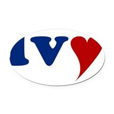 Ivy with Heart Oval Car Magnet